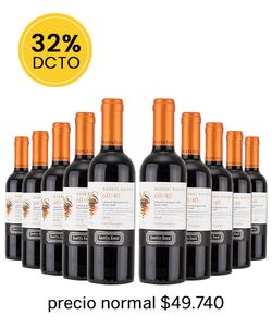 Pack 10 vinos Santa Ema 60/40, CS/MR, 2018 - Veranito!