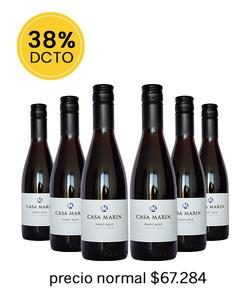 Pack 6 vinos 375cc Pinot Noir