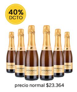 Pack 6 vinos 375cc - Espumante Undurraga