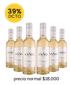 Pack 6 vinos 375cc - SB Annie
