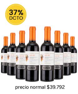 Pack 8 vinos 375cc Blend- Santa Ema