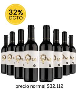 Pack 8 vinos 375cc - SY, QU