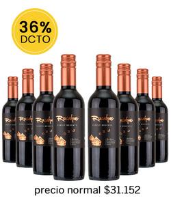 Pack 8 vinos 375cc - Blend, Rucahue