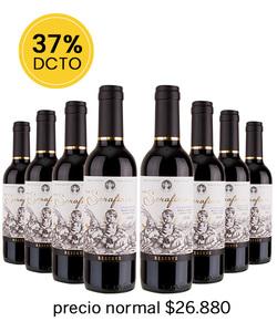 Pack 8 vinos 375cc - CR, Serafines