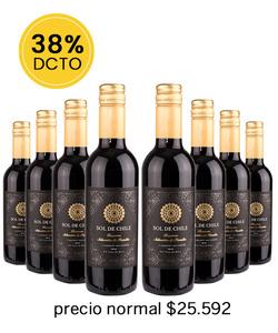 Pack 8 vinos 375cc - CS, Sol de Chile