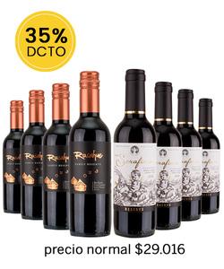 Pack 8 vinos 375cc - Mix Tinto #2