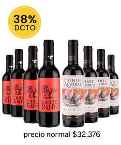 Pack 8 vinos 375cc - Mix Tinto #5