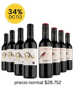 Pack 8 vinos 375cc - Mix Tinto #4