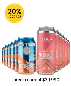 Pack 12 Cervezas Mix Coda Barrelhouse - Epic Lunar Transit