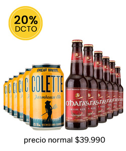 Pack 12 Cervezas Mix Great Divide Collete - Ohara´s Irish Red