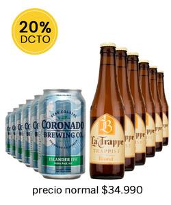 Pack 12 Cervezas Mix Coronado Islander IPA - La Trappe blond