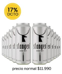 Pack 12 Cervezas Stangen Weiss Bier