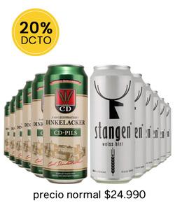 Pack 12 Cervezas Mix Dickerlacker CD Pils - Stangen weiss Bier