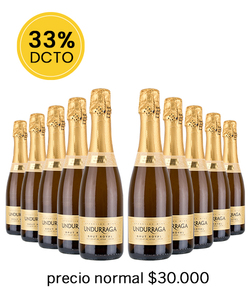 PACK 10 UNDURRAGA BRUT ROYAL 375CC