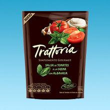Sampling salsa tomate trattoria